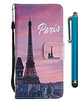 economico -Custodia Per Sony Xperia XZ2 Compact / Xperia XZ2 A portafoglio / Porta-carte di credito / Con supporto Integrale Torre Eiffel Resistente pelle sintetica per Xperia XZ2 / Xperia XZ2 Compact / Xperia