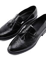 Недорогие -Муж. Официальная обувь Наппа Leather Весна / Осень Туфли на шнуровке Черный / Коричневый