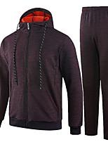 abordables -Homme Col Arrondi Manches Longues Sweatshirt Couleur Pleine
