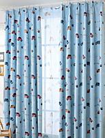 Недорогие -Детские шторы Детская Геометрический принт / Мультипликация Хлопок / полиэфир С принтом