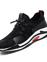 Недорогие -Муж. Полиуретан Лето Удобная обувь Кеды Контрастных цветов Белый / Черный