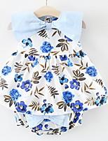 billiga -Bebis Flickor Blommig Ärmlös Klädesset