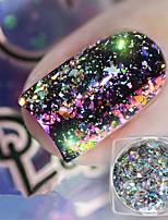 cheap -1pc Glitter Powder Fashionable Design / Luminous nail art Manicure Pedicure Bling Bling Daily Wear