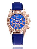 cheap -Women's Wrist Watch Chinese Casual Watch PU Band Fashion Black / White / Blue