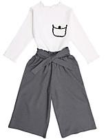 cheap -Kids Girls' Color Block Long Sleeve Clothing Set