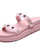 cheap -Women's Shoes PU(Polyurethane) Summer Slingback Slippers & Flip-Flops Creepers Rivet Black / Pink