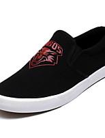 abordables -Homme Chaussures Toile / Polyuréthane Eté Semelles Légères Mocassins et Chaussons+D6148 Noir / Noir / Rouge