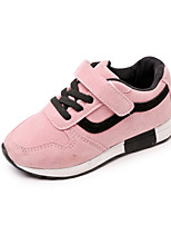 cheap -Girls' Shoes Suede / PU(Polyurethane) Spring & Summer Comfort Athletic Shoes Walking Shoes Magic Tape for Teenager Black / Pink / Khaki