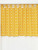 cheap -Door Panel Curtains Drapes Living Room Geometric Cotton / Polyester Reactive Print