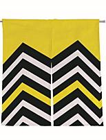 economico -Porta pannello Tende tende Sala da pranzo Fantasia geometrica Tessuto sintetico Con stampe