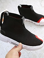 cheap -Girls' Shoes Mesh / PU(Polyurethane) Spring & Summer Comfort Sneakers Walking Shoes for Kids Black / Red / Booties / Ankle Boots