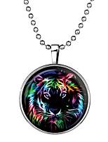 Недорогие -Муж. Светящийся камень Длиные Ожерелья с подвесками - Tiger Мультяшная тематика, Мода Cool Синий 60 cm Ожерелье Бижутерия 1шт Назначение Halloween, Для клуба