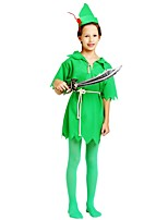 cheap -Cosplay Outfits Boys' Halloween / Carnival / Children's Day Festival / Holiday Halloween Costumes Dark Green Solid Colored / Halloween Halloween