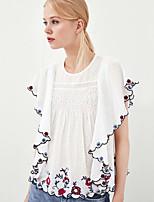 economico -T-shirt Per donna Essenziale Con ricami, Fantasia floreale