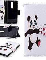 cheap -Case For Nokia Nokia 5.1 / Nokia 3.1 Wallet / Card Holder / with Stand Full Body Cases Panda Hard PU Leather for Nokia 5 / Nokia 3 / Nokia 2.1