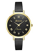cheap -Geneva Women's Wrist Watch Chinese New Design / Casual Watch / Cool Alloy Band Casual / Fashion Black / Gold
