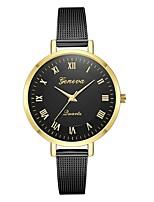 baratos -Geneva Mulheres Relógio de Pulso Chinês Novo Design / Relógio Casual / Legal Lega Banda Casual / Fashion Preta / Dourada