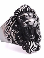 cheap -Men's Stylish Statement Ring - Titanium Steel, Stainless Lion Statement, Punk, European 8 / 9 / 10 Silver For Carnival / Street