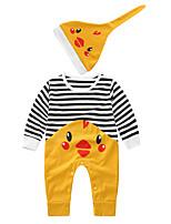 cheap -2pcs Baby Girls' Striped / Print / Patchwork Long Sleeve Romper