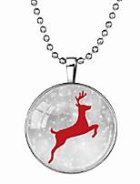 Недорогие -Муж. Светящийся камень Длиные Ожерелья с подвесками - Elk Мода Синий 60 cm Ожерелье 1шт Назначение Halloween, Для клуба