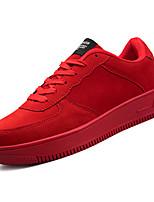 Недорогие -Муж. Полиуретан Осень Удобная обувь Кеды Черный / Красный / Черно-белый
