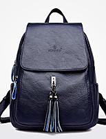 Недорогие -Жен. Мешки PU рюкзак Молнии Синий / Черный / Красный