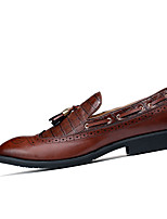 cheap -Men's Formal Shoes Cowhide / PU(Polyurethane) Summer Loafers & Slip-Ons Black / Brown / Burgundy