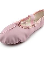 billiga -Flickor Balettskor Läder Platta Platt klack Dansskor Rosa