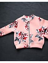 cheap -Kids Girls' Floral Long Sleeve Jacket & Coat