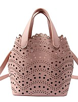 cheap -Women's Bags PU(Polyurethane) Shoulder Bag Solid White / Black / Blushing Pink