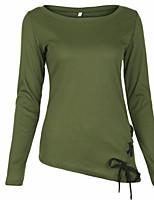 preiswerte -Damen Solide - Grundlegend / Street Schick T-shirt
