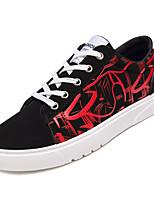 Недорогие -Муж. Полиуретан Осень Удобная обувь Кеды Контрастных цветов Лиловый / Красный / Черно-белый