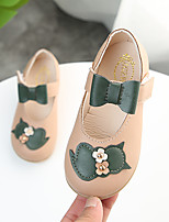 cheap -Girls' Shoes PU(Polyurethane) Spring & Summer Comfort / Flower Girl Shoes Flats Walking Shoes Bowknot / Magic Tape for Kids Beige / Brown / Pink