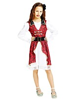 cheap -Pirate Outfits Girls' Halloween / Carnival / Children's Day Festival / Holiday Halloween Costumes Rose Solid Colored / Halloween Halloween