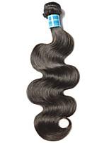Недорогие -1 комплект Бразильские волосы Волнистый Не подвергавшиеся окрашиванию Человека ткет Волосы / Плетение 8-28 дюймовый Ткет человеческих волос Машинное плетение Лучшее качество / 100% девственница