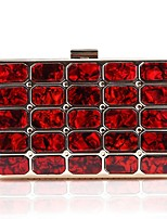 cheap -Women's Bags Acrylic / Alloy Evening Bag Crystals Black / Red / Almond