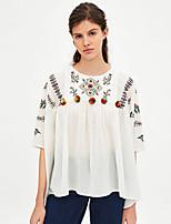 economico -T-shirt Per donna Per uscire Tinta unita / Tribale