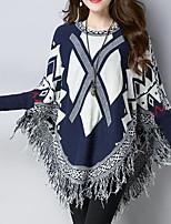 cheap -Women's Street chic / Chinoiserie Cloak / Capes - Geometric / Plaid, Tassel
