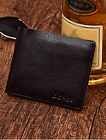 cheap -Men's Bags Cowhide Wallet Zipper Black / Brown / Dark Brown