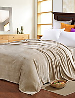 Недорогие -Коралловый флис, Активный краситель Однотонный Хлопок / полиэфир одеяла