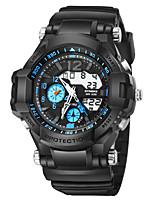 abordables -SYNOKE Hombre Reloj Deportivo / Reloj digital Calendario / Cronógrafo / Resistente al Agua PU Banda Moda Negro / Noctilucente