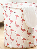 Недорогие -Ткань Круглый Милый стиль / Cool Главная организация, 1шт Корзины для хранения