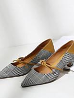 cheap -Women's Shoes Cowhide Summer Comfort / Basic Pump Heels Chunky Heel Black / Yellow / Blue