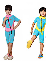 cheap -Dive&Sail Boys' / Girls' Shorty Wetsuit 2.5mm SCR Neoprene Diving Suit Short Sleeve Autumn / Fall / Spring / Summer / Stretchy