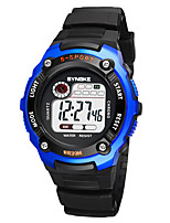 Недорогие -SYNOKE Муж. / Жен. Спортивные часы / электронные часы Календарь / Секундомер / Защита от влаги PU Группа Мода Черный / Фосфоресцирующий