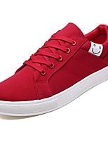 Недорогие -Муж. Замша Осень Удобная обувь Кеды Черный / Серый / Красный