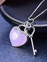 cheap -Women's Onyx Disco Ball Pendant Necklace - S925 Sterling Silver Heart Korean, Sweet Pink 2 cm Necklace 1pc For Wedding, Daily