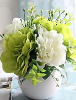 Недорогие -Искусственные Цветы 1 Филиал Односпальный комплект (Ш 150 x Д 200 см) Стиль Гортензии Букеты на стол