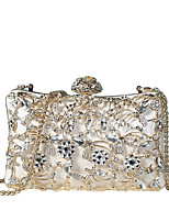 cheap -Women's Bags PU(Polyurethane) Evening Bag Crystals / Hollow-out White / Black / Blushing Pink