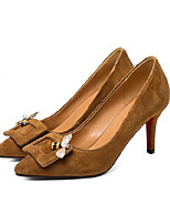 cheap -Women's Shoes Suede Spring / Fall Basic Pump Heels Stiletto Heel Black / Brown